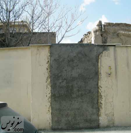 دربهای گل گرفته شده و مسدود شده خانه شیخ فضل الله نوری
