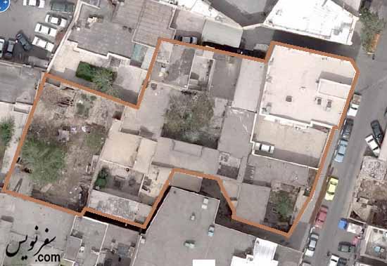 عکس هوایی نقشه خانه شیخ فضل الله نوری سال 86