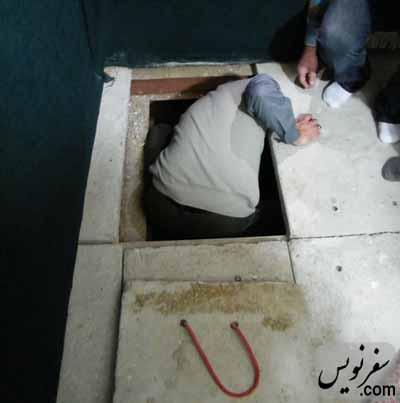 سنگ فرشهای زیر سنگ مزار دانیال نبی