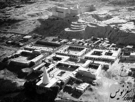 آرامگاه دانیال نبی و قلعه شوش، عکس هوایی