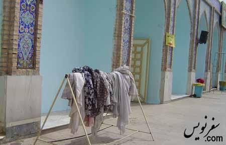چادر برای بازدید از آرامگاه دانیال نبی کلیمی