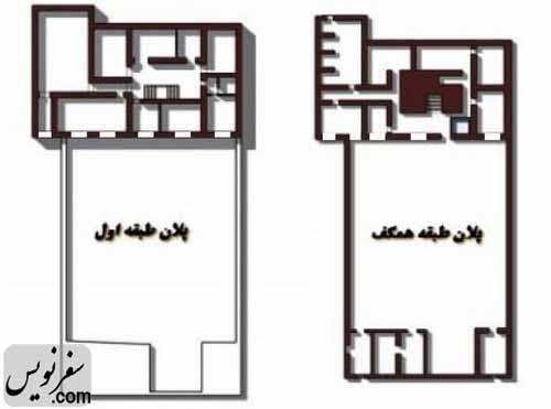 پلان طبقات خانه معین التجار بوشهری