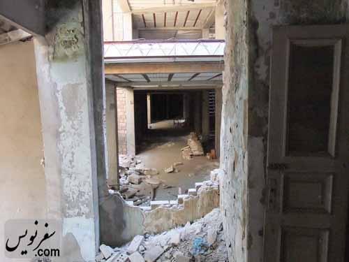 تخریب جداره داخلی خانه معین التجار بوشهری