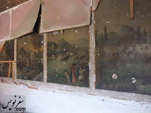 نقاشی های قاجاری خانه معین التجار بوشهری