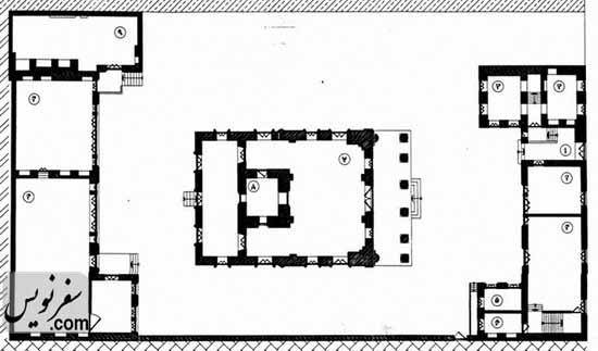 پلان و نقشه نیایشگاه آدریان (آتشکده تهران)