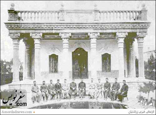 عکسی قدیمی از نیایشگاه و معبد آدریان (آتشکده تهران)