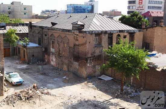 عمارت قاجاری امین السلطان قبل از آتش سوزی