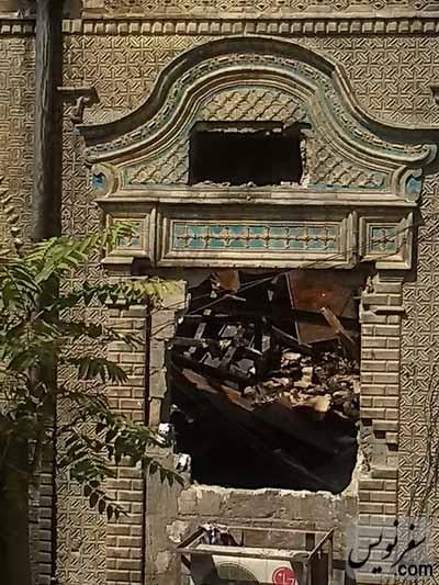 تزئینات ویژه خانه اتحادیه بعد از آتش سوزی