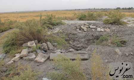 حفاری غیر مجاز در تپه باستانی قبرستان عاشقان