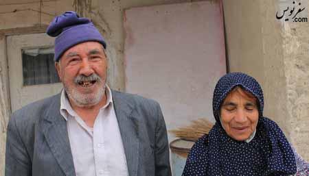پیر روستای عاشقان در کنار یکی از همسرانش!