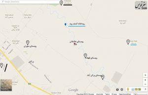 نقشه روستاهای مشهد و توس - برای دیدن نقشه در ابعاد بزرگتر کلیک کنید