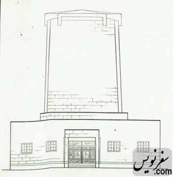 نمای شرقی برج آرامگاه کاشف السلطنه