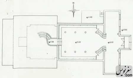 نقشه طبقه همکف آرامگاه کاشف السلطنه (موزه تاریخ چای ایران)