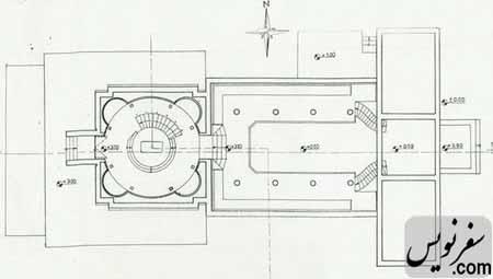 نقشه طبقه اول آرامگاه کاشف السلطنه (موزه تاریخ چای ایران)