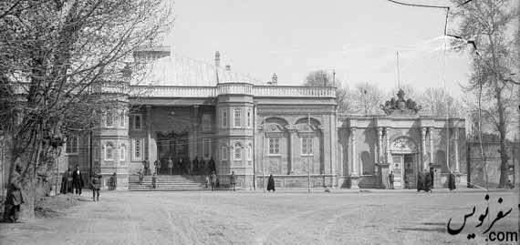 ساختمان مجلس میدان بهارستان در گذشته های دور
