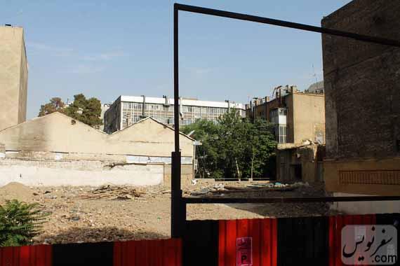 زمین خالی و تخریب شده خانه تاریخی ماوثاله (کوچه جمالی)