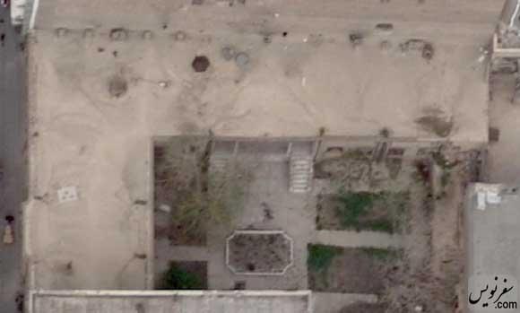 عکس هوایی خانه سرلشگر شیبانی قبل از تخریب