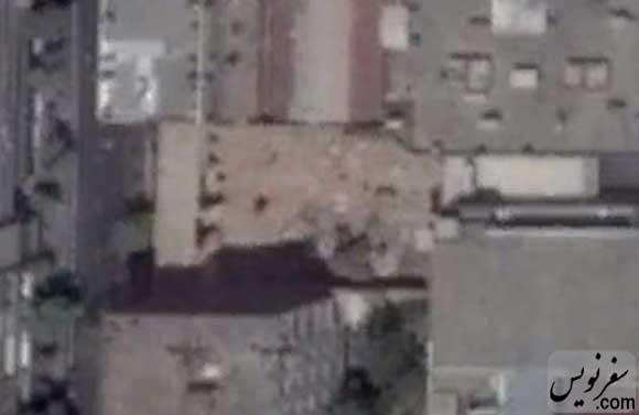 عکس هوایی تخریب شده خانه سرلشگر شیبانی