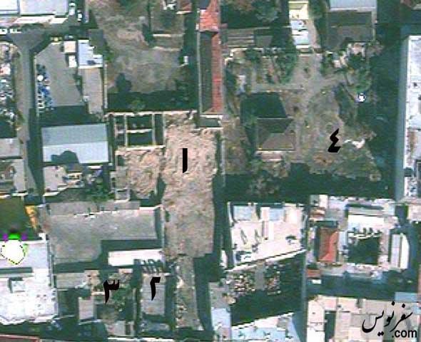 تصویر هوایی مجموعه خانه باغ امین السطان در سال 94