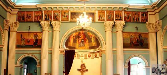 نمایی از داخل کلیسای ارتودوکس یونانی