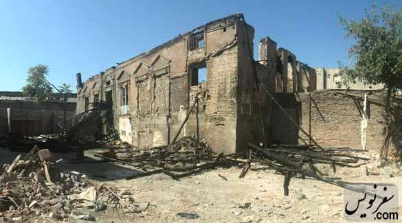 خانه ای که در آتش سوخت