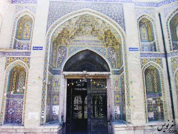 عکسی قدیمی از درب مسجد و حوزه سپهسالار (شهید مطهری)