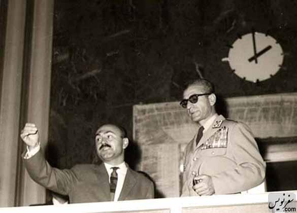 حیدر غیایی و محمدرضا پهلوی