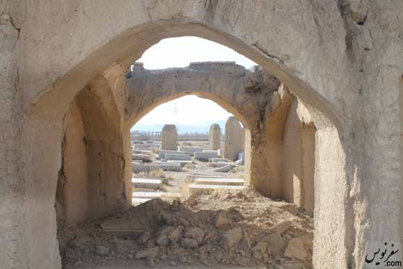 عمارتهای در حال تخریب زیارتگاه سارح بت حاشر (سارا خاتون)