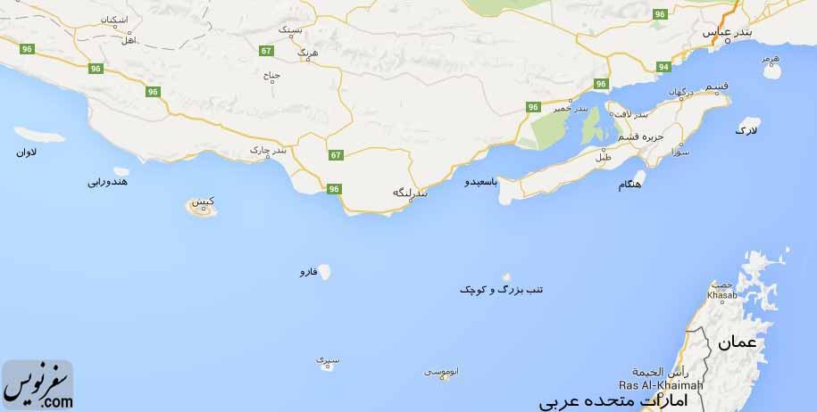 نقشه جزایر ایران و طرح استان خلیج فارس