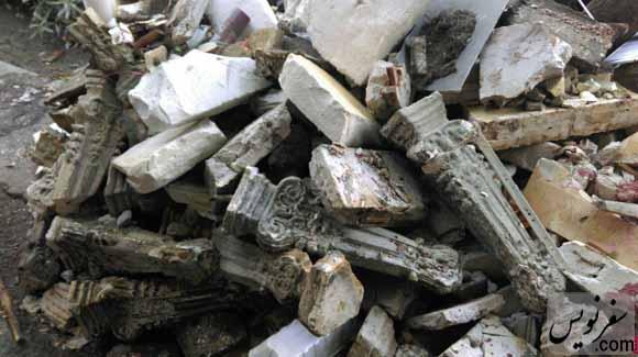 تخریب طارمی ها (نرده) عمارت های میدان بهارستان و خیابان سیروس