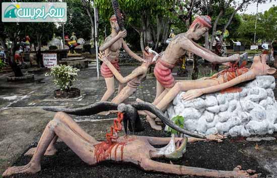 شکنجه گناهکاران در جهنم تایلند