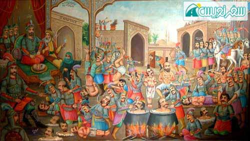 بخشی از نقاشی انتقام مختار، موزه رضاعباسی
