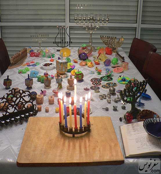 میز جشن و عید حنوکا
