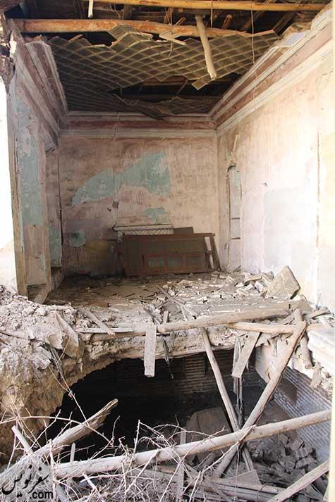 خانه سپهبد امیراحمدی در حال ویرانی