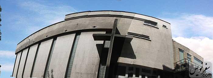 جداره ارزشمند معماری مدرن کلیسای ادونتیست