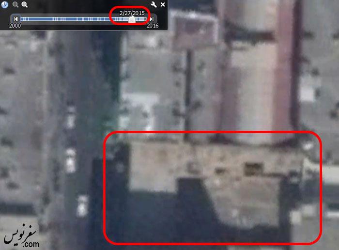 تصویر هوایی خانه شیبانی در 2015.2.27 و عمارت های موجود در بنا