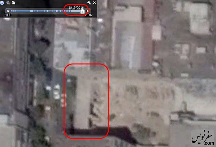 تصویر هوایی خانه شیبانی در 2016.8.19 و وجود عمارت غربی