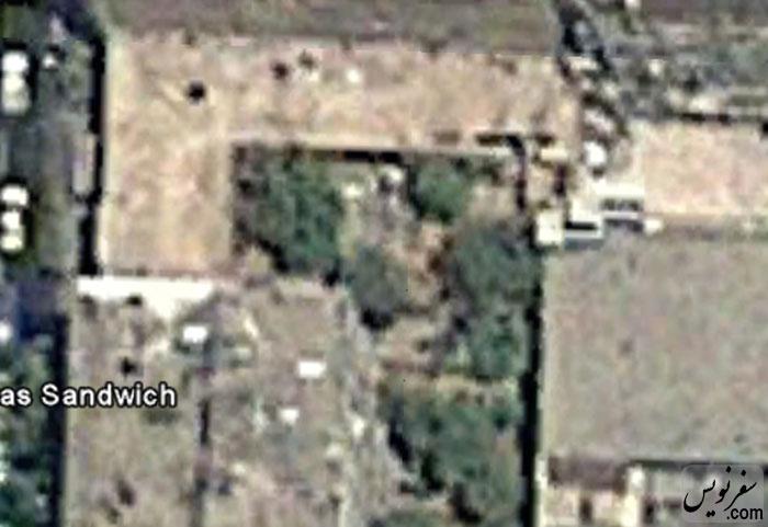 فضای مشجر خانه شیبانی قبل از تخریب