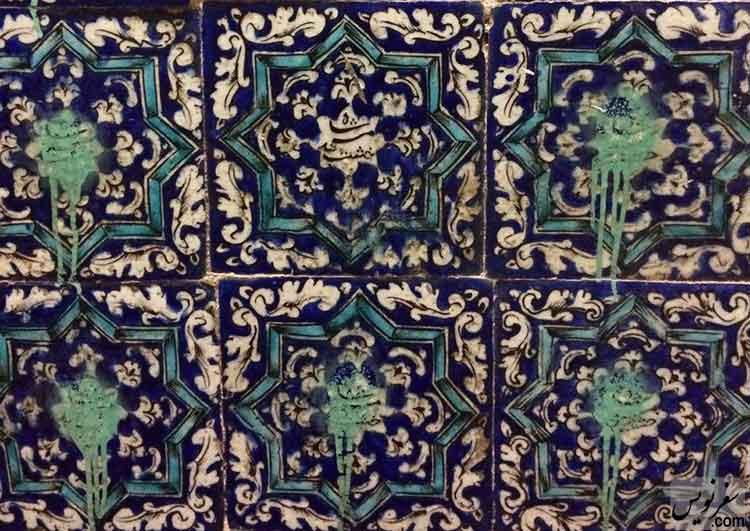 پوشش عبارت خشت مسجد شاه کاشی های مسجد امام خمینی