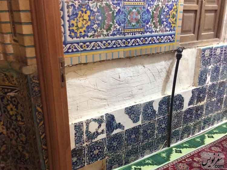 مفقود شدن کاشی های مسجد شاه تهران !