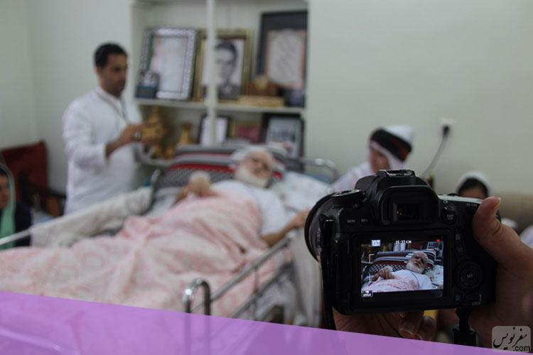 عثمان خداپرست (خوافی) در بستر بیماری