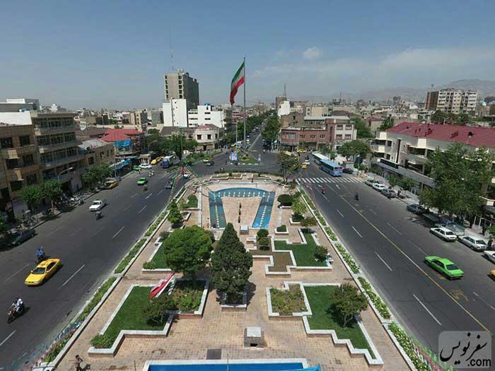 عکس میدان بهارستان (دید از شرق)