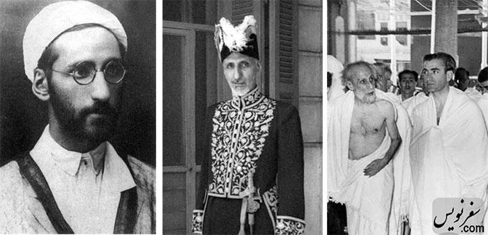 علی دشتی سردبیر روزنامه شفق سرخ از لباس روحانیت تا لباس حج در کنار محمدرضا پهلوی