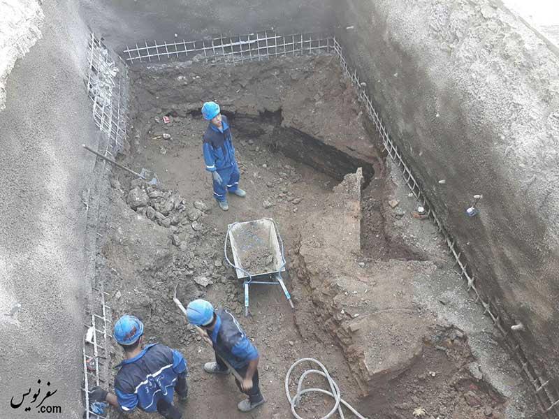 کشف سازه تاریخی قاجاری در عرصه کاخ گلستان