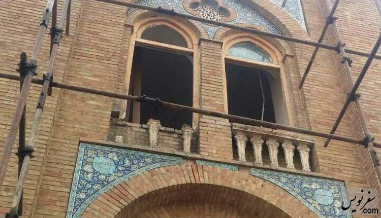 صراحی ها ساختمان ثبت اسناد بعد از تخریب