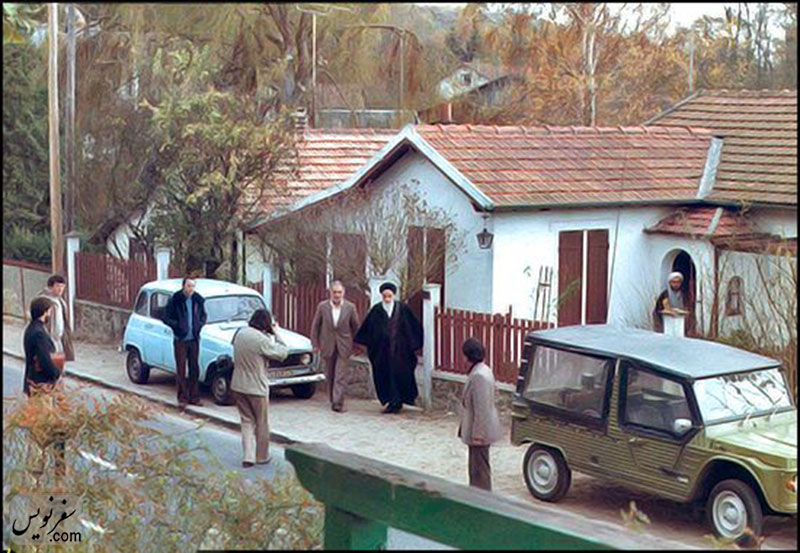 خانه امام در نوفل لوشاتو که دیگر نیست و ویران شده است