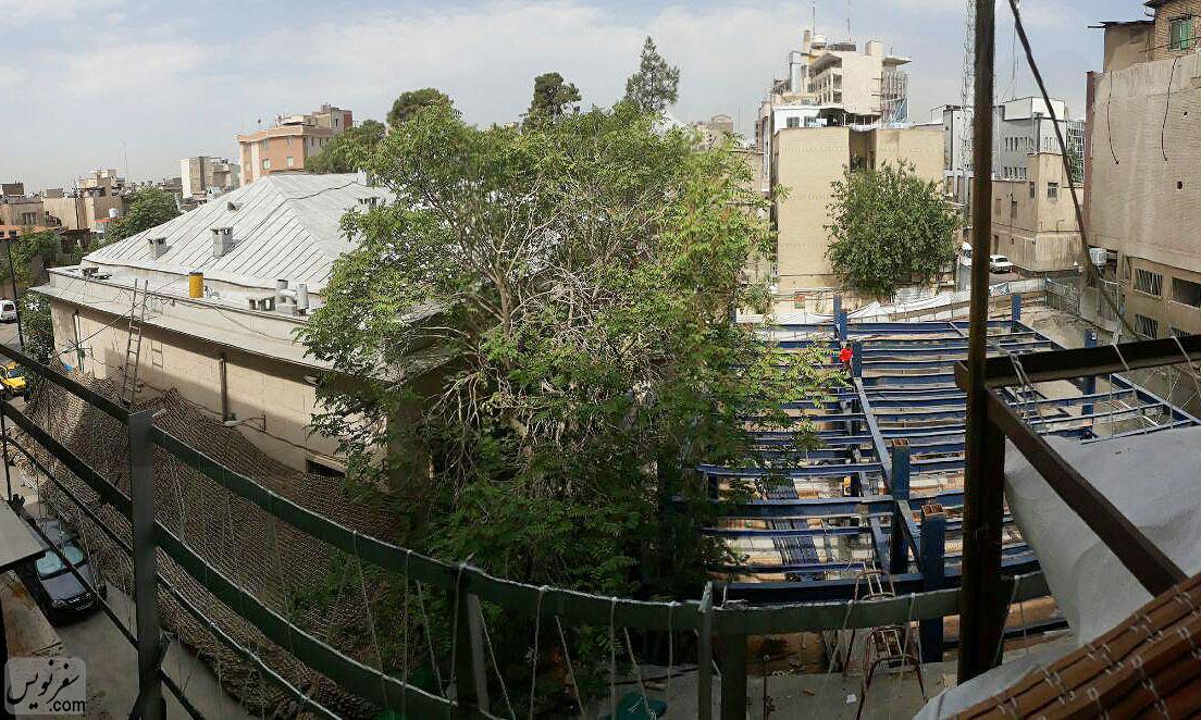 ساخت و ساز غیرمجاز در کنار ستاد معراج شهدا