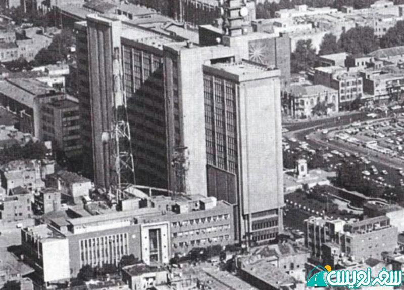 عکس هوایی عمارت علی صادق و میدان توپخانه و عمارت فرمانفرما و ... در دهه 40