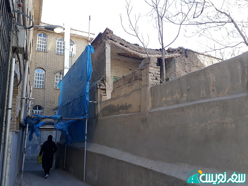 دیوارهای خانه شیخ فضل الله در حال ریزش است