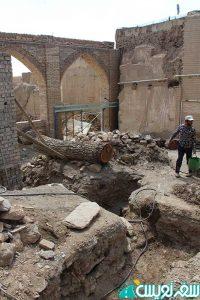 قطع درخت کهنسال امامزاده ابوالفتوح